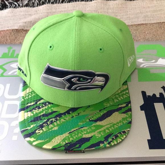 premium selection 7b530 f4bbb Seattle Seahawks Color Rush New Era Hat Rare